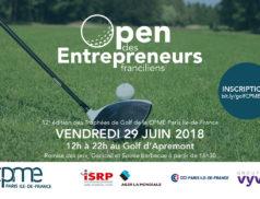 Le 29 juin 2018 à partir de 12h au Golf d'Apremont se déroulera l'Open des Entrepreneurs Franciliens, la 12ème édition du trophée de golf de la CPME Paris Ile-de-France.