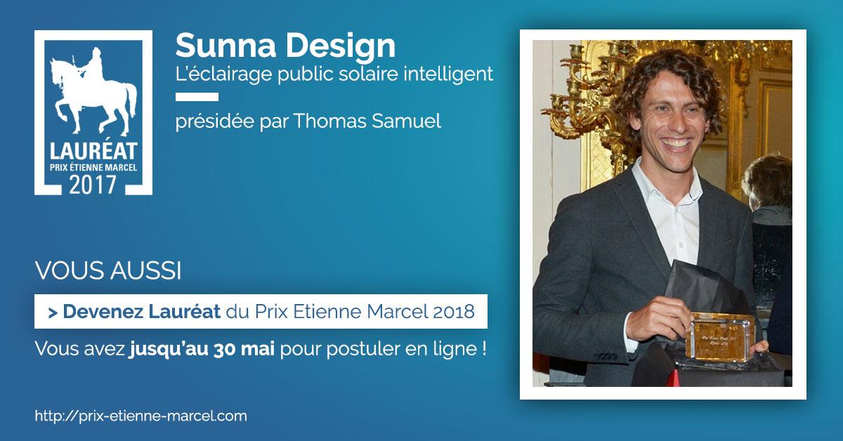 Lauréat Prix Etienne Marcel 2017 - Sunna Design