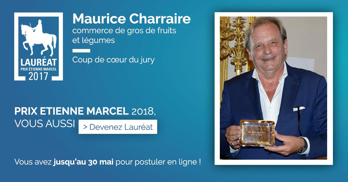 Lauréat Prix Etienne Marcel 2017 - Maurice Charraire
