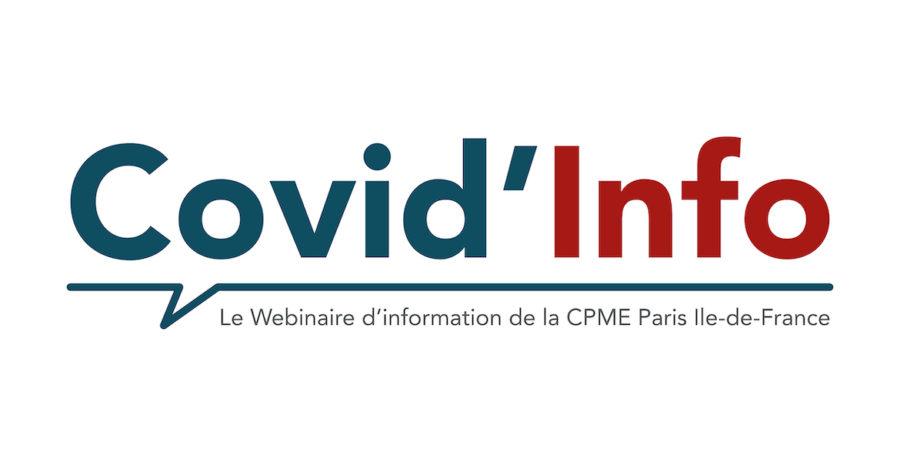 Covid'Info le webinaire d'information de la CPME Paris Ile-de-France