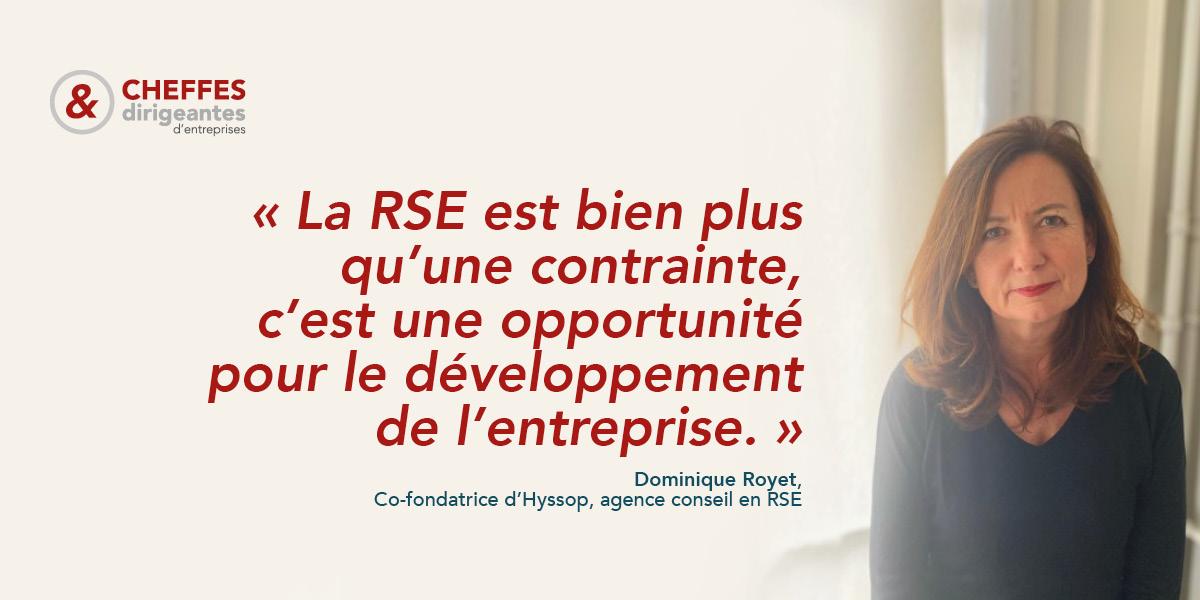 Portrait | « La RSE est bien plus qu'une contrainte, [c'est] une opportunité pour le développement de l'entreprise. »